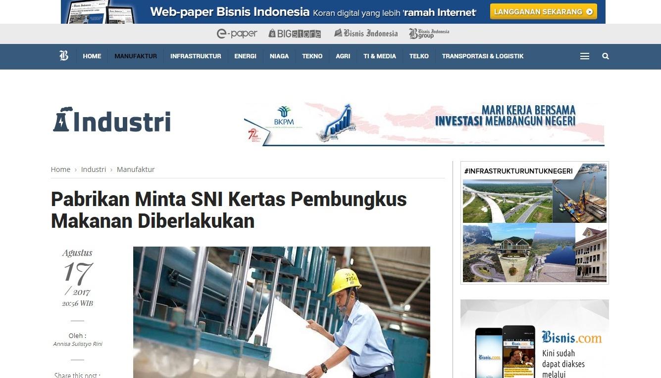 Pabrikan Minta Sni Kertas Pembungkus Makanan Diberlakukan Bsn Bungkus Makan Badan Standardisasi Nasional National Standardization Agency Of Indonesia Setting The