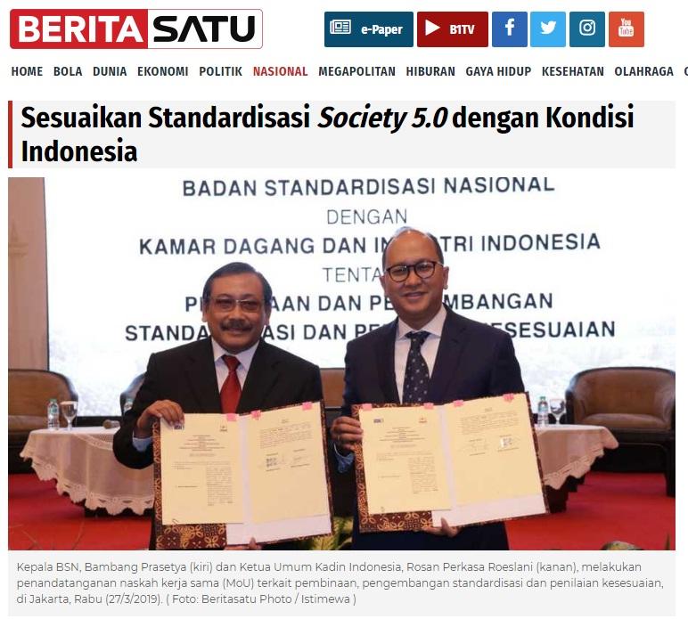 Sesuaikan Standardisasi Society 5.0 Dengan Kondisi