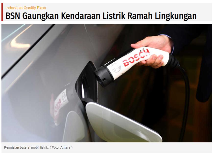 BSN Gaungkan Kendaraan Listrik Ramah Lingkungan
