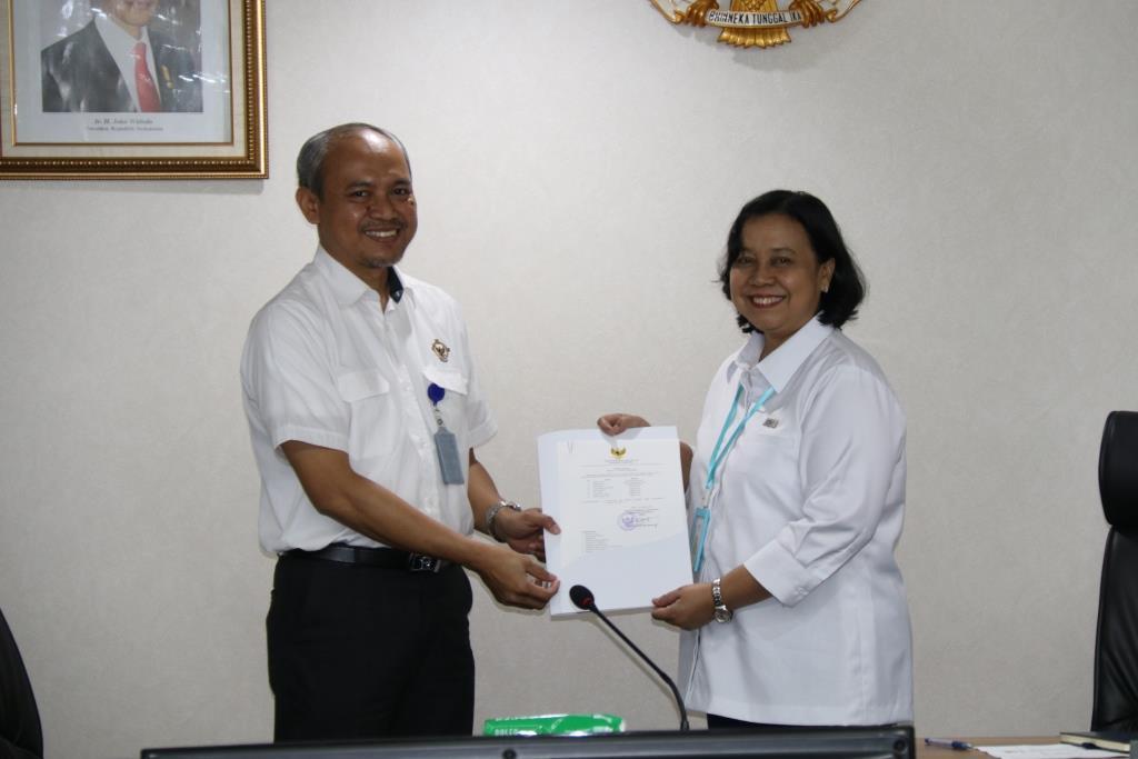 Penerimaan Surat Tugas Pemeriksan BPK ke Sestama BSN