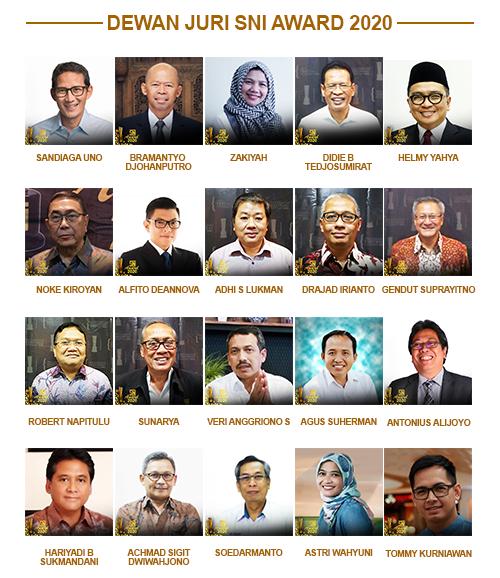 dewan juri SNI Award 2020