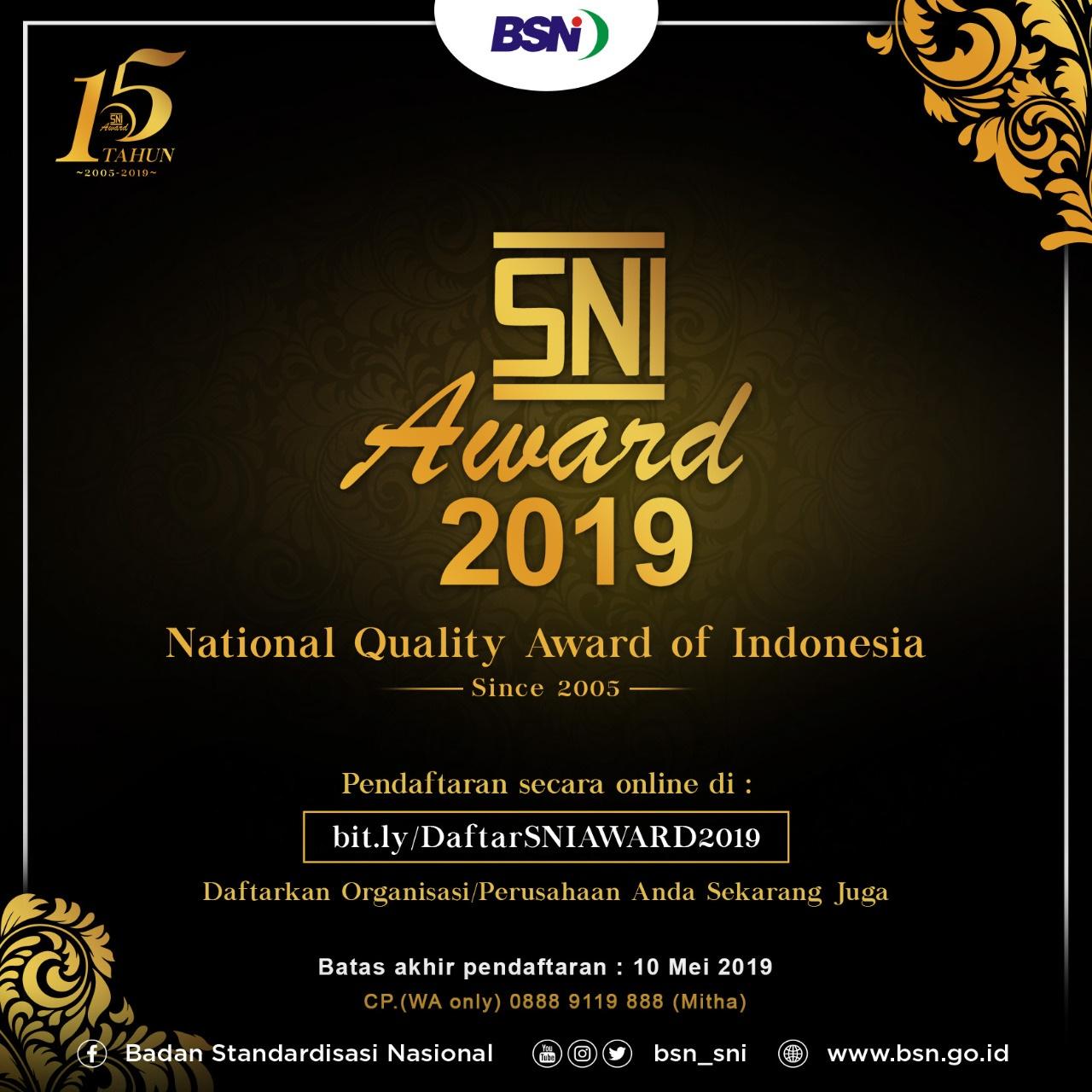 SNI AWARD 2019