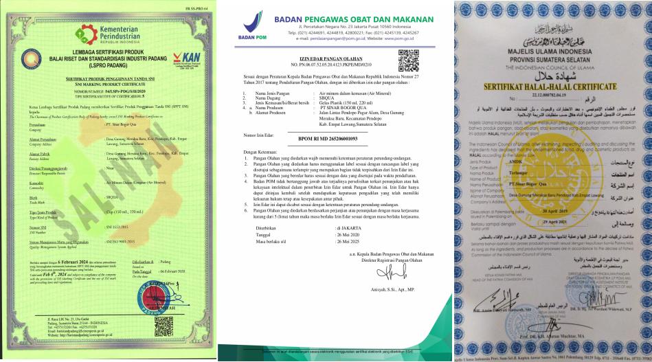 Sbqua Amdk Pertama Produksi Empat Lawang Siap Penuhi Kebutuhan Lokal Air Minum Aman Dan Halal Bsn Badan Standardisasi Nasional National Standardization Agency Of Indonesia Setting The Standard In