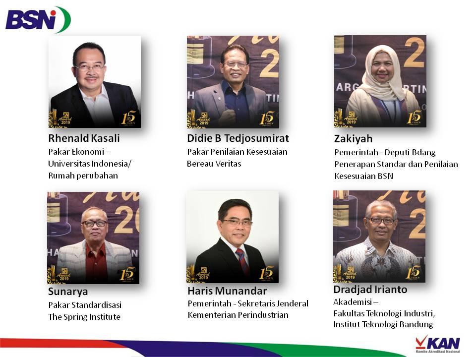 Dewan Juri SNI Award 2019