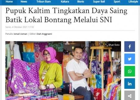 Pupuk Kaltim Tingkatkan Daya Saing Batik Lokal Bontang Melalui SNI