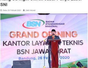 Kang Uu Ingin UMKM Jabar Punya Label SNI