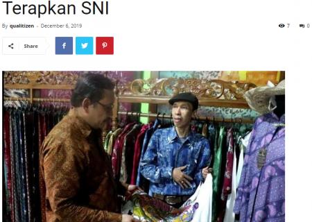 BSN Dorong IKM Batik di Jawa Timur Terapkan SNI
