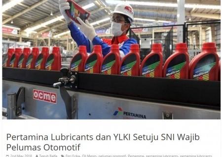 Pertamina Lubricants dan YLKI Setuju SNI Wajib Pelumas Otomotif