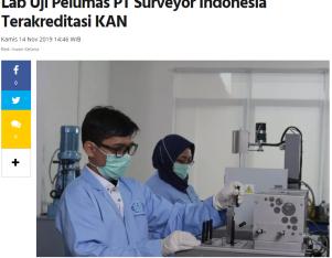 Lab Uji Pelumas PT Surveyor Indonesia Terakreditasi KAN