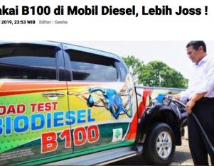 Pakai B100 di Mobil Diesel, Lebih Joss !