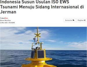 Indonesia Susun Usulan ISO EWS Tsunami Menuju Sidang Internasional di Jerman