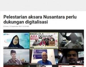 Pelestarian aksara Nusantara perlu dukungan digitalisasi