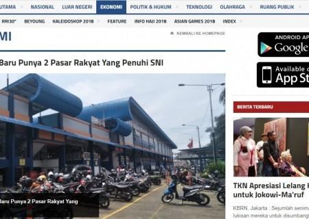Jawa Barat Baru Punya 2 Pasar Rakyat Yang Penuhi SNI