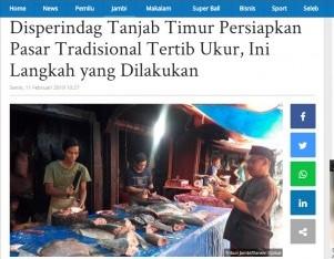 Disperindag Tanjab Timur Persiapkan Pasar Tradisional Tertib Ukur, Ini Langkah yang Dilakukan