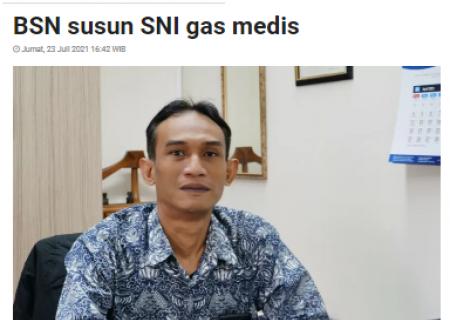 BSN susun SNI gas medis