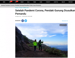 Setelah Pandemi Corona, Pendaki Gunung Diusulkan Pakai Jasa Pemandu