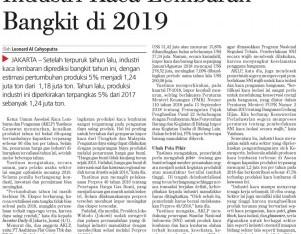 Industri Kaca Lembaran Bangkit di 2019