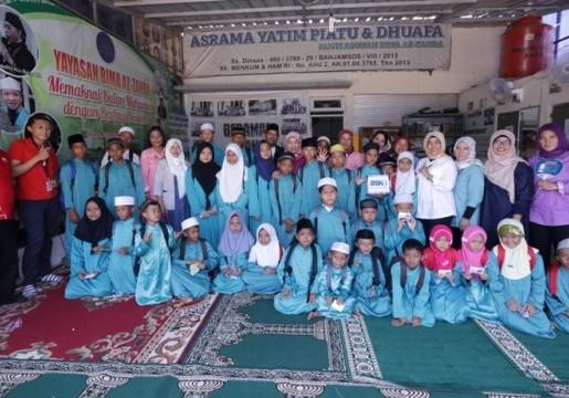 BSN Berbagi Ceria Bersama Panti Asuhan Yatim Piatu & Dhuafa Bima Az-Zahra