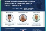 SNI Sistem Manajemen Organisasi Pendidikan Tinggi Dikenalkan KLT BSN Sulsel Kerjasama dengan L2DIKTI Wilayah IX