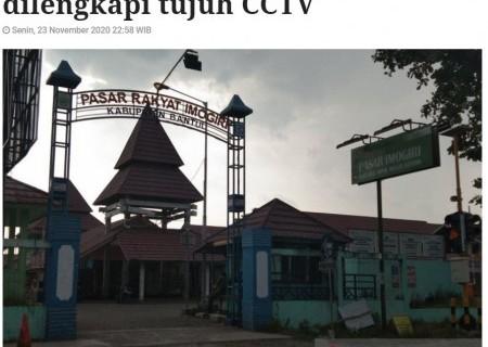 Pasar SNI Imogiri Bantul dilengkapi tujuh CCTV