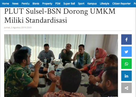 PLUT Sulsel-BSN Dorong UMKM Miliki Standardisasi