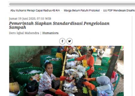 Pemerintah Siapkan Standardisasi Pengelolaan Sampah