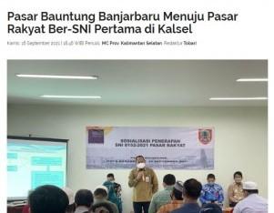 Pasar Bauntung Banjarbaru Menuju Pasar Rakyat Ber-SNI Pertama Di Kalsel