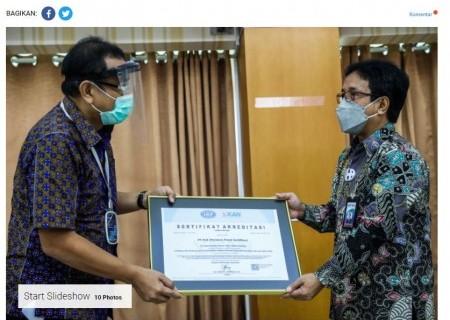 PLN Pusertif Terima Akreditasi ISO 45001:2018 dari KAN