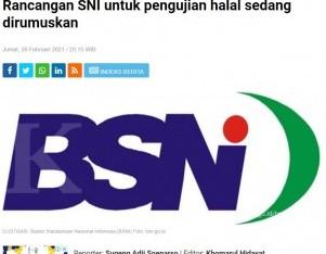 Rancangan SNI untuk pengujian halal sedang dirumuskan