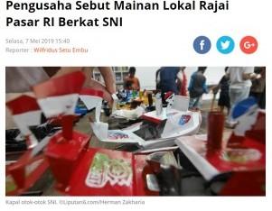 Pengusaha Sebut Mainan Lokal Rajai Pasar RI Berkat SNI