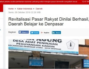 Revitalisasi Pasar Rakyat Dinilai Berhasil, Sejumlah Daerah Belajar ke Denpasar