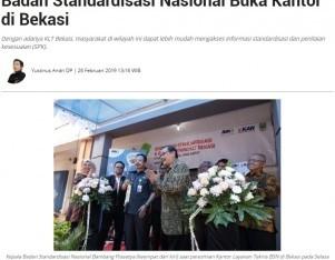 Badan Standardisasi Nasional Buka Kantor di Bekasi