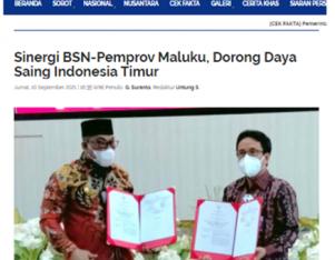 Sinergi BSN-Pemprov Maluku, Dorong Daya Saing Indonesia Timur
