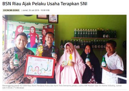 BSN Riau Ajak Pelaku Usaha Terapkan SNI