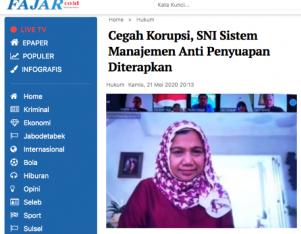 Cegah Korupsi, SNI Sistem Manajemen Anti Penyuapan Diterapkan