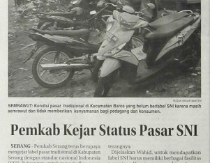 Pemkab Kejar Status Pasar SNI