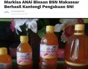 Markisa ANAi Binaan BSN Makassar Berhasil Kantongi Pengakuan SNI
