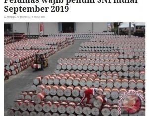Pelumas wajib penuhi SNI mulai September 2019