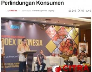 Mendag: Komnas Codex Dorong Perlindungan Konsumen