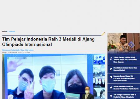 Tim Pelajar Indonesia Raih 3 Medali di Ajang Olimpiade Internasional