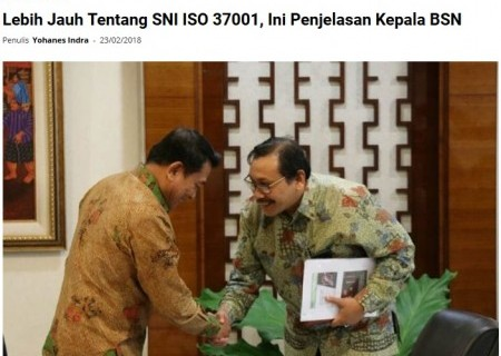 Lebih Jauh tentang SNI ISO 37001, Ini Penjelasan Kepala BSN