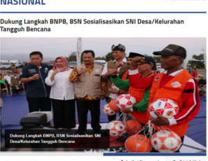 BSN Dukung Langkah BNPB Sosialisasikan SNI Desa/Kelurahan Tangguh Bencana