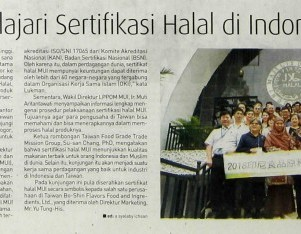Taiwan Pelajari Sertifikasi Halal di Indonesia