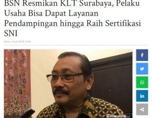 BSN Resmikan KLT Surabaya, Pelaku Usaha Bisa Dapat Layanan Pendampingan Hingga Raih Sertifikasi SNI