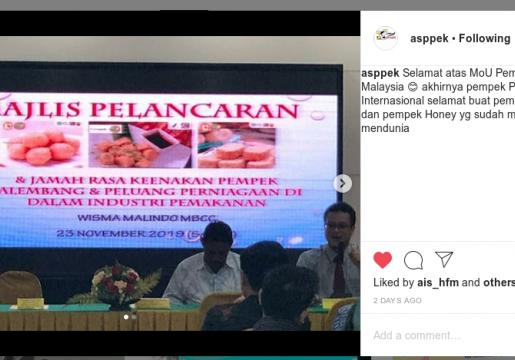Mulai 2020 Palembang Ekspor Pempek ke Malaysia