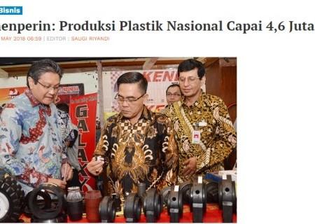 Kemenperin: Produksi Plastik Nasional Capai 4,6 Juta Ton