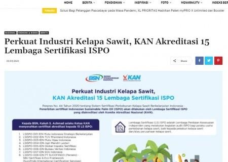 Perkuat Industri Kelapa Sawit, KAN Akreditasi 15 Lembaga Sertifikasi ISPO