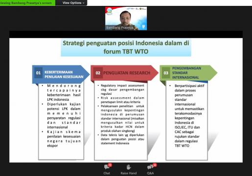 Perkuat Posisi Indonesia di Forum TBT WTO dengan Scientific Based Justification
