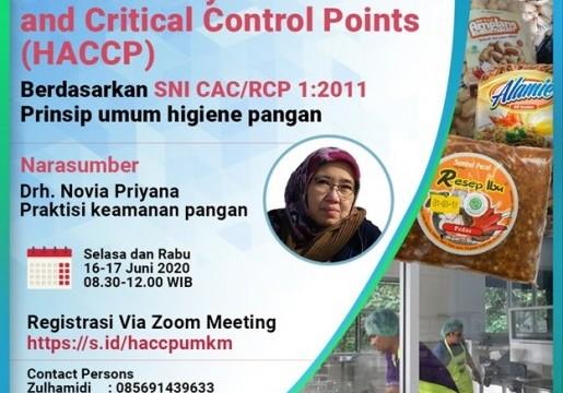 Fasilitasi UMKM Produk Pangan Siap Ekspor, BSN Adakan Pelatihan HACCP berbasis SNI CAC/RCP 1: 2011, Prinsip Umum Higiene Pangan