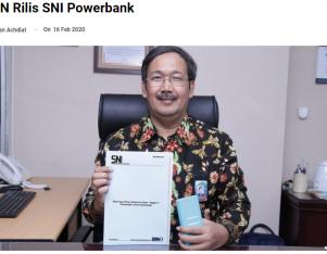 BSN Rilis SNI Powerbank